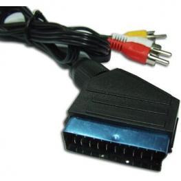 Cable Av 1.5M de Euroconector A 3 Rcas