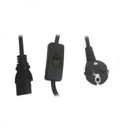 Cable Corriente Cpu Pc 2M C13 Con Interruptor