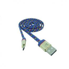 Cable Datos Carga Usb A Micro Usb 1M Nylon Azul