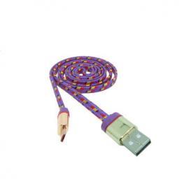 Cable Datos Carga Usb A Micro Usb 1M Nylon Morado