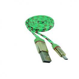 Cable Datos Carga Usb A Micro Usb 1M Nylon Verde