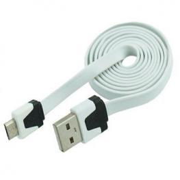 Cable Datos y Carga Usb A Micro Usb 1M Blancoplano