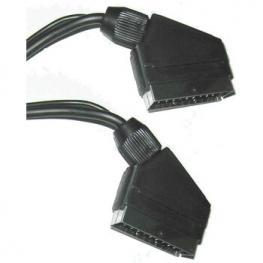 Cable Euroconector Scart Macho Macho 1M Satycon