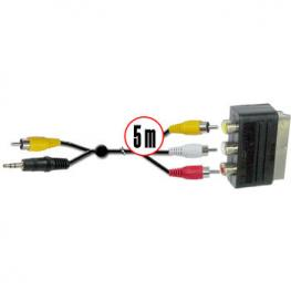Cable Pc Universal 5M Rca. Jack A Euro Satycon