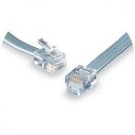 Cable Telefono Rj11 M/m 4 Hilos Plano 1M