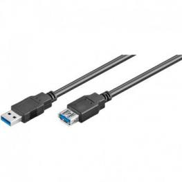 Cable Usb 3.0  Am-Ah Macho Hembra 1.8M Negro