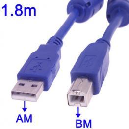 Cable Usb2.0 Am-Bm 1.8 Metros Impresora C.Ferritas