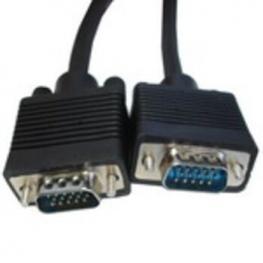 Cable Vga+ Db15 Macho-Macho 15M Negro
