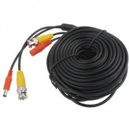 Cable Videovigilancia Con Alimentacion 20M Negro