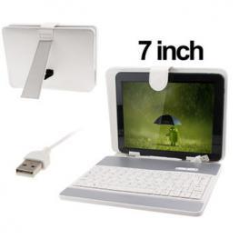 Funda Con Teclado Tablet 7 Satycon Blanca