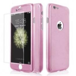 Funda  Iphone 6 Rosa + Cristal Templado