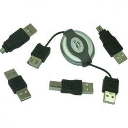 Kit Cables Adaptadores Usb 4 Piezas Satycon
