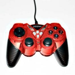Mando Pc y Ps3 Usb Double Shock Color Rojo