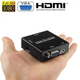 Mini Adaptador Conversor Hdmi A Vga+Audio  Satycon