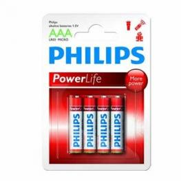 Pilas Alcalinas Philips Lr03 Aaa Blister Pack-4