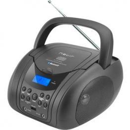 Radio Cd Mp3 Portatil Nevir Nvr-483 Bluetooth Negr