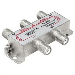 Splitter Tv-Sat 1 Entrada 4 Salidas 5-2450Mhz