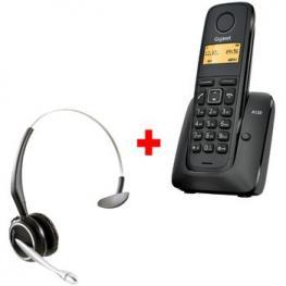 Telefono Inalambrico Gigaset A120 + Cascos Gn9120