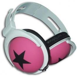 Z-Outlet Auriculares Acolchados Mp3 Estrella Rosa