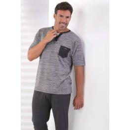 Massana Pijama Hombre P161367 M/corta P/largo Gris T.L