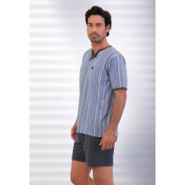 Massana Pijama Hombre P161340 M/corta P/corto Marino T.L