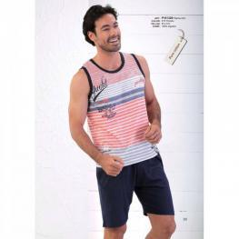 Massana Pijama Hombre P161328 Tirante Ancho P/corto Estampado Algodon T.Xl