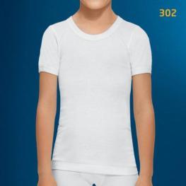 Abanderado Camiseta M/corta Niño Blanco Algodon 302 T.12