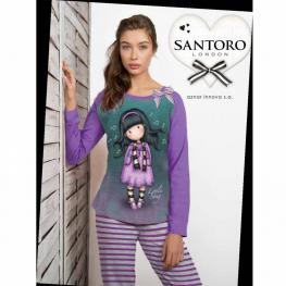 Santoro London Pijama Niña 50025-0 C.Morado T.14