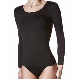 Marie Claire Camiseta M/larga C/redondo Negra T.M