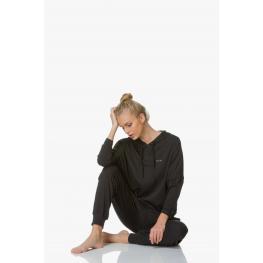Calvin Klein Mujer Top Pullover-Sudadera Capucha- Qs5519E-Clo Azul M. T.M