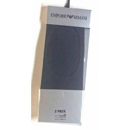 Emporio Armani Calcetin Invisible Negro Cc193 2Pack T.S/m