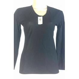 Camiseta Teres Isaura M. Larga Negro T. Xl