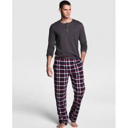 Emporio Armani Pijama Hombre M/l P/l 7A567 Granate T.S