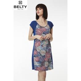 Belty Vestido M/c 19V-1027Y-68  Estamp..Xxl