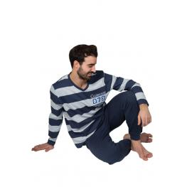 Blanca H. Pijama Hombre Algodón Pau 41486 Gris/azul T.5Xl