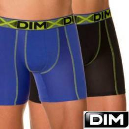 Dim Pack de 2 Boxers Largos Do1N2 Cotton 3D Flex Air Azul - Negro T. L
