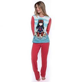 Santoro Pijama Pirata Mujer 50762 Rojo/marinero T.L