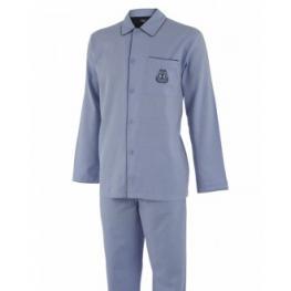 Impetus Pijama Hombre  Abierto 1563309 100% Algodón Azul T.Xxl