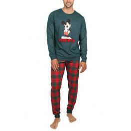 Disney Pijama Hombre P/l M/l Mickey 54211-0 Verde/cuadros T.Xl/sg
