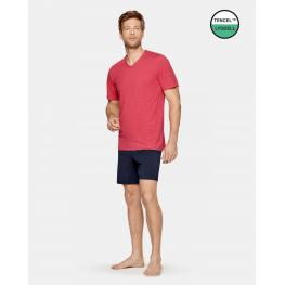 Impetus Pijama Hombre P/c M/c Lyocell /alg 1406G90 Coral T.Md