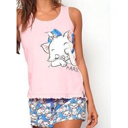 Disney Pijama Niña Verano P/c M/c 54391-0 Aristogatos Marie Rosa T.12