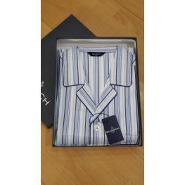 Guash Pijama Hombre P/c-M/c Algodon En Tela Py141 Rayas T.L