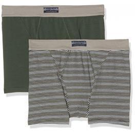 Abanderado Ocean Pack de 2 Boxers Abiertos A5398 Color Verde - Rayas Verdes T. M