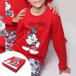 Disney Pijama Niño M/l 54238-0 Rojo Mickey T.6 Años
