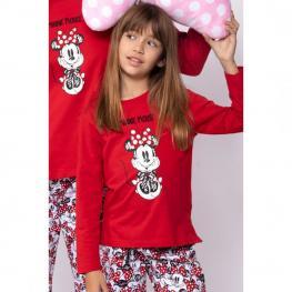Disney Pijama Niña M/l Minnie 54384 Rojo T.8