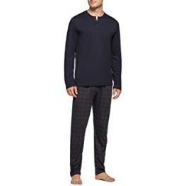 Impetus Pijama Hombre M/c  C/pico 100% Liocell 4071F95 C.Azul T.M