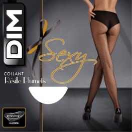 Dim Panty Fantasia Opaco D07Ac Neg/plumeti T.1/2