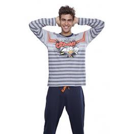 Disney Pijama Hombre Invierno 50170 Gris Jaspe T.Xl