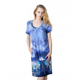 Lohe Vestido Cenefa Manga Corta V178436 Azul T. 50