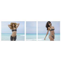 Antigel Bikini Completo Eba7148 la Pois Feline S/tirantes+Braguita Regulable T.95-D/m